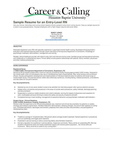 entry level nursing resumes