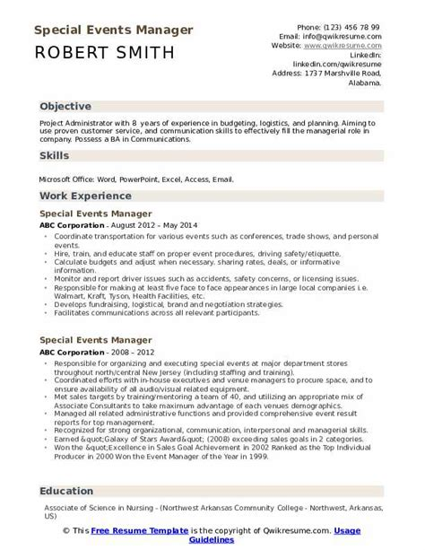 b2b marketing manager resume event manager resume a 21 in events