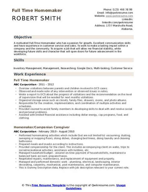 Resume Resume Example Homemaker Returning Work resume example homemaker returning work letter of intent to story mightyrecruiter resume