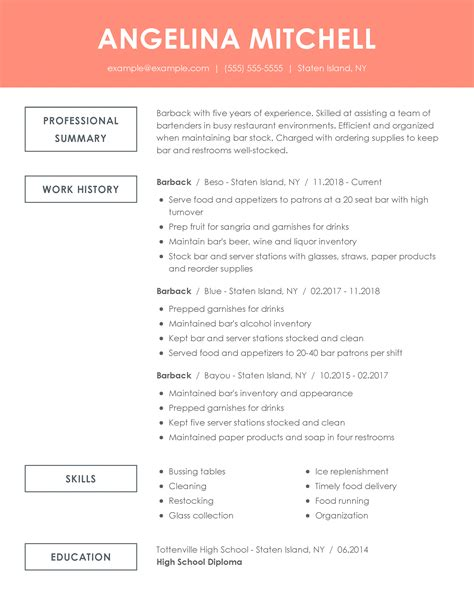Resume Examples And Tips