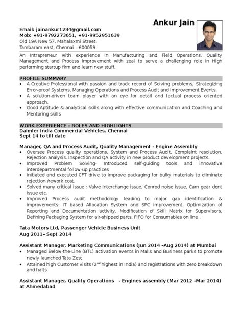 Resume Examples Quality Assurance 6 Quality Assurance Resume Samples Examples Download Now
