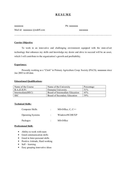 Resume Examples For Engineering Freshers 8 Freshers Resume Samples Examples Download Now