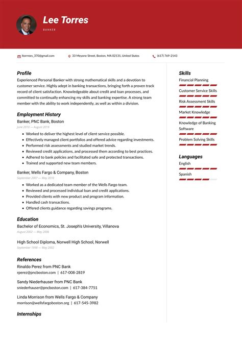 resume examples commercial banker best resumes yahoo