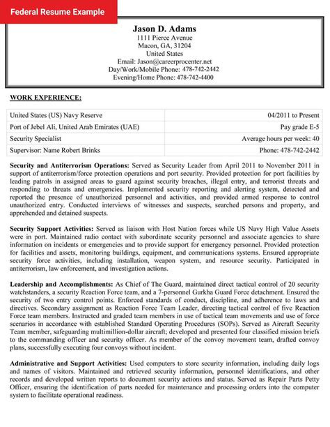 resume examples federal government jobs | cover letters for ... - Examples Of Federal Resumes