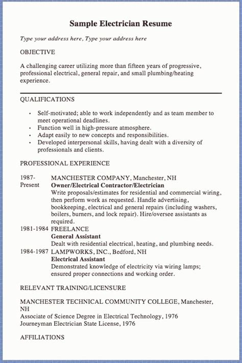 resume examples beginners how to type a resume for a job a guide for beginners