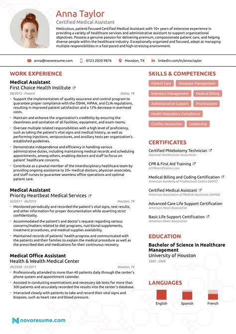Resume Examples Cna Job Medical Resume Examples Samples