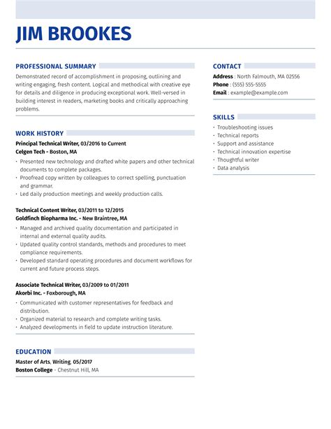 Resume Examples And Tips Resume Writing Tips Free Resume Format And Layout Advice