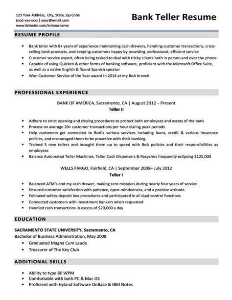 resume examples for bank teller jobs teller resume sample teller resumes livecareer