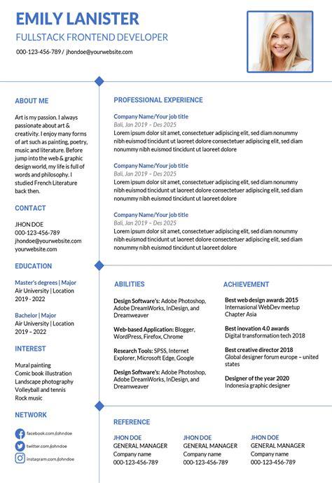 resume file name format resume templates