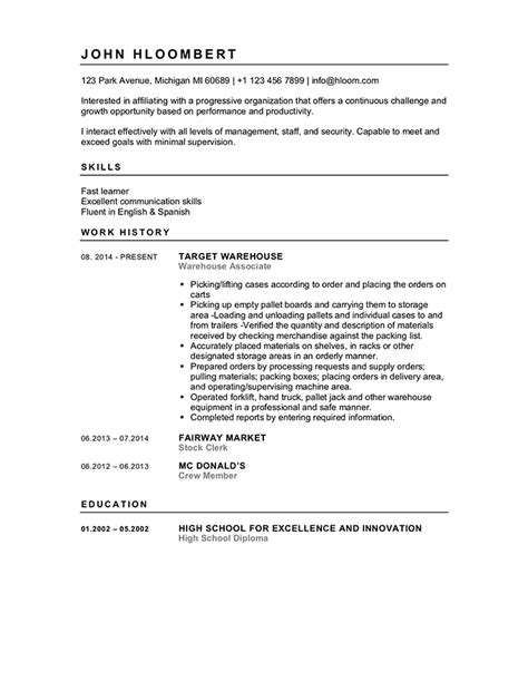Resume For High School Students Download 10 High School Resume Templates Free Samples Examples