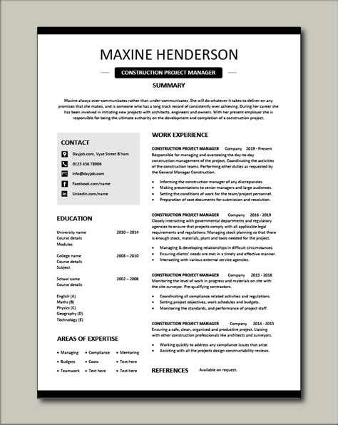 resume for construction project manager 2 construction project manager resume samples examples - Construction Project Manager Sample Resume