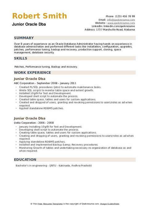 resume for fresher dba 3 oracle dba resume samples examples download now - Oracle Dba Resume Sample