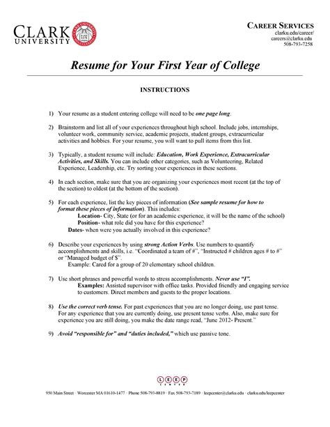 resume for college freshmen template college student resume example sample