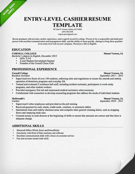 resume for cashier with no experience sample resume java
