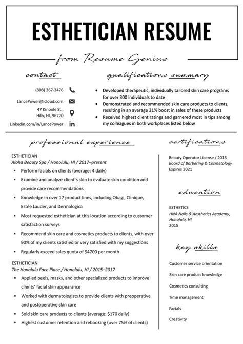 Resume For Entry Level Esthetician Esthetician How Do I Become An Esthetician Study