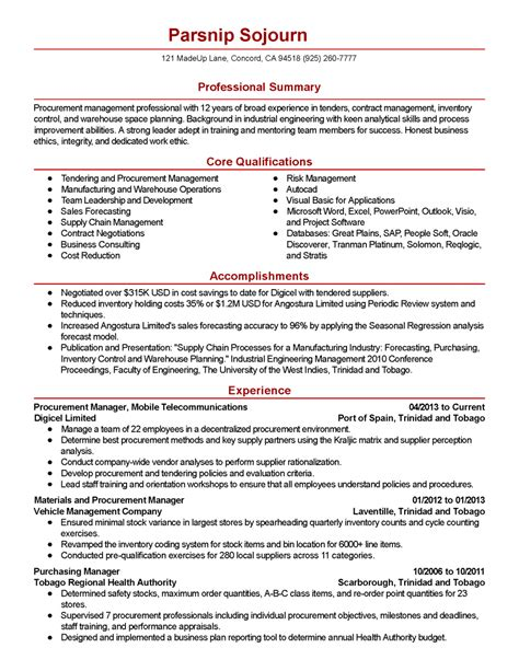 resume for underwriter purchasing resume example