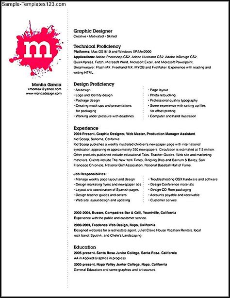 resume format for banking jobs