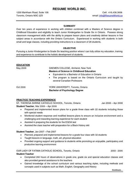 resume samples canada 2014