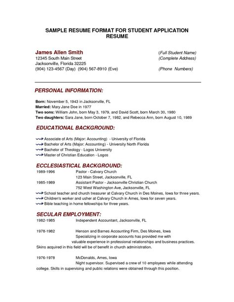 example canadian resumes