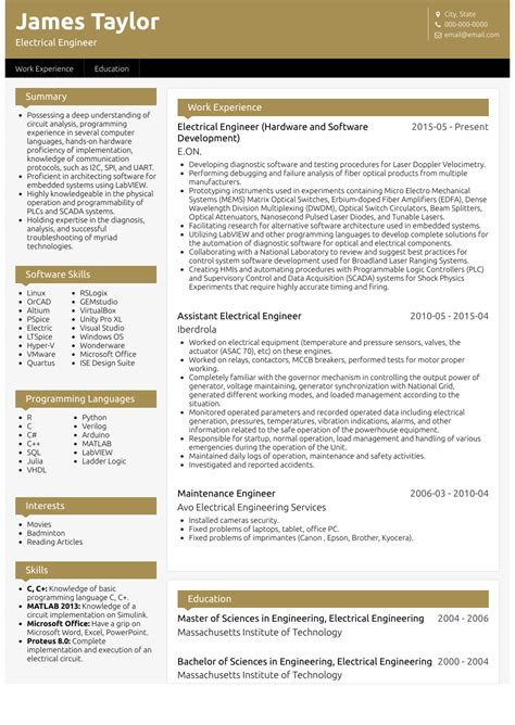 resume format for engineers resume format of mechanical engineer samples resumes resume format for experienced electrical - Marine Electrical Engineer Sample Resume