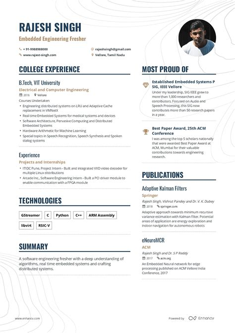 Resume Format Bca Student Freshers And Internship Resume Format Careerride