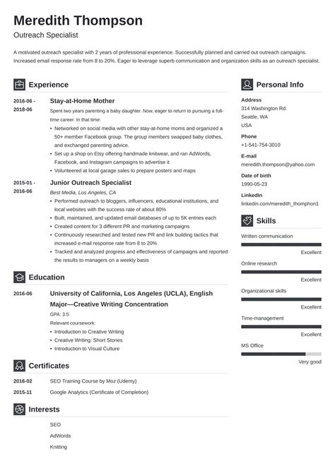 Resume Format For Engineers In Word Full Time Mom Resume Example Cppmusic
