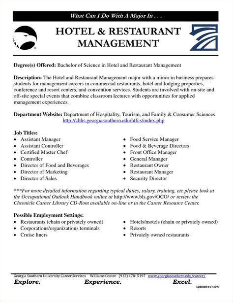 resume format for hotel management hotel manager resume 5