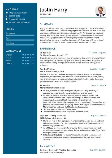 resume format of physical education teacher pe teacher resume example resume writing resume
