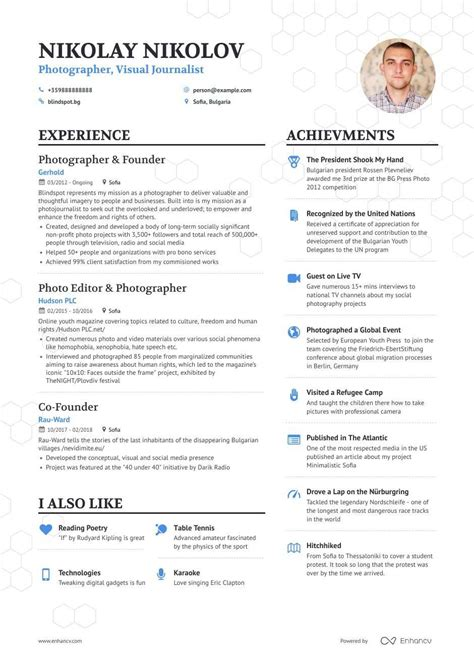 resume format for professional photographer photographer resume example the balance - Professional Photographer Resume