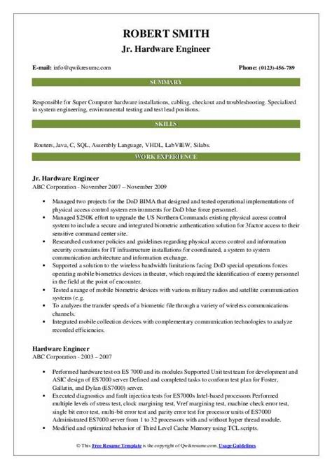 resume format for hardware and networking engineer resume cv hardware networking engineer - Resume Format Network Engineer