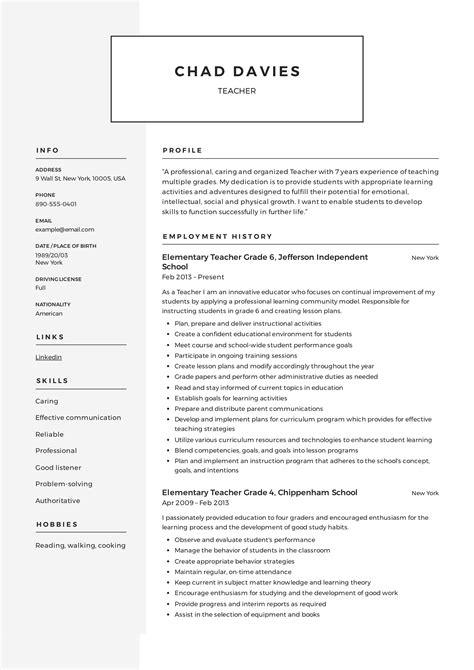 Resume Format For Teachers In Kerala Resume For Teachers In Kerala Create Professional