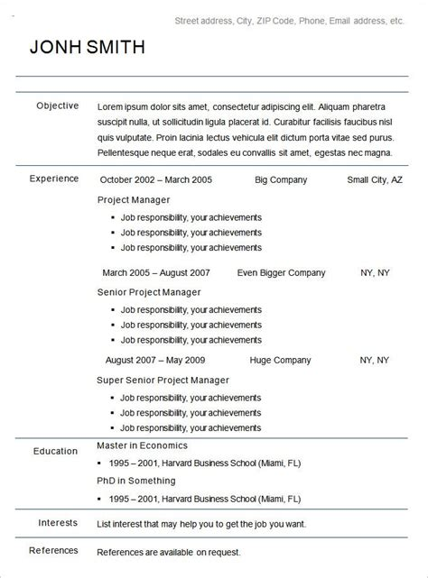 chronological functional resumes