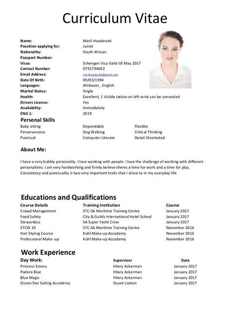 resume format for cruise job cruise ship jobs a good resume cv - Cruise Ship Resume
