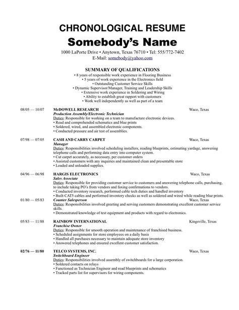 resume holder resume format reverse chronological functional hybrid