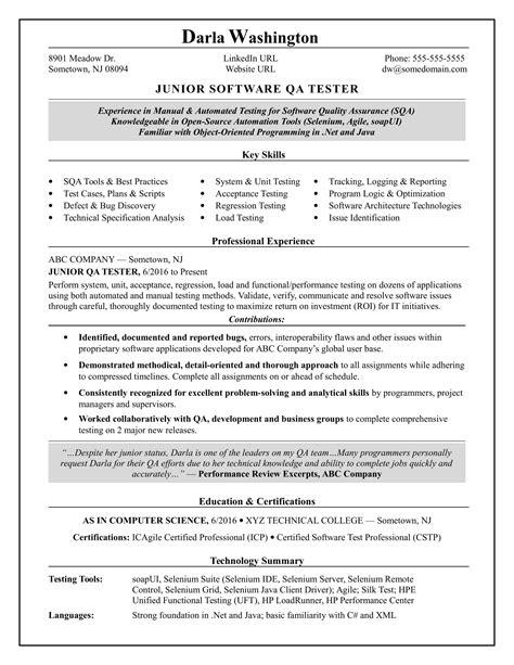 software testing resume for fresher doc sample resume for