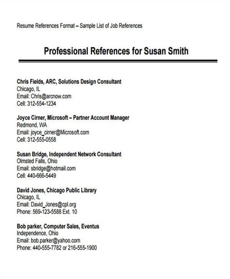 resume format reference page standard job reference page template good resume tips sample of reference in resume