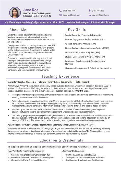 Resume Format For A Teacher Job Teachereducation Resume Examples The Balance