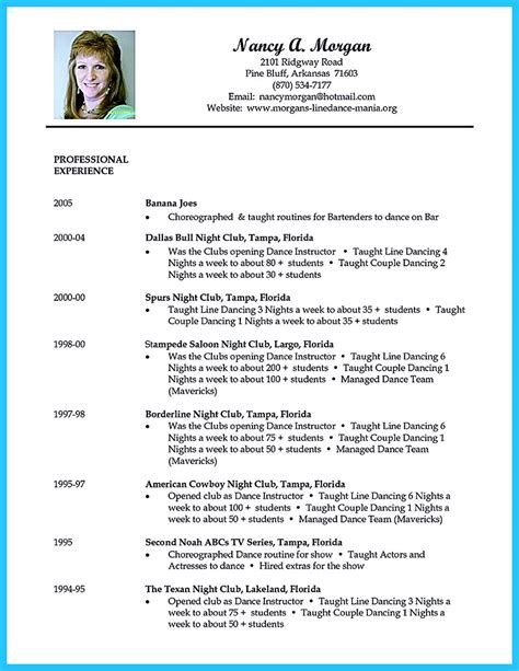 choreographer sample resume resume examples free basic resumes examples free you are on the right site