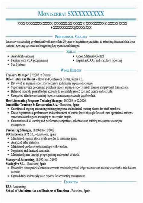 sample resume for treasury accountant resume ixiplay free resume