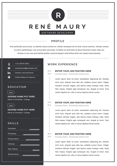 Resume Formats Ms Word Free Word Templates