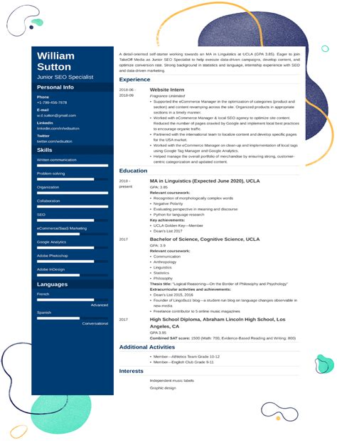 resume generator for college students resume generator student interactive readwritethink