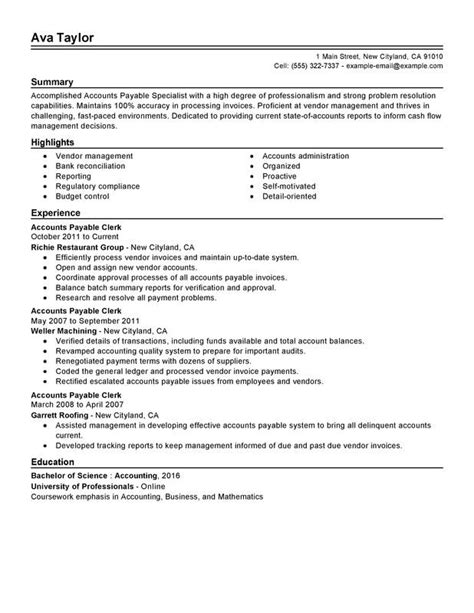 resume headline for accounts payable accounts payable resume sample job description salary - Sample Accounts Payable Resume