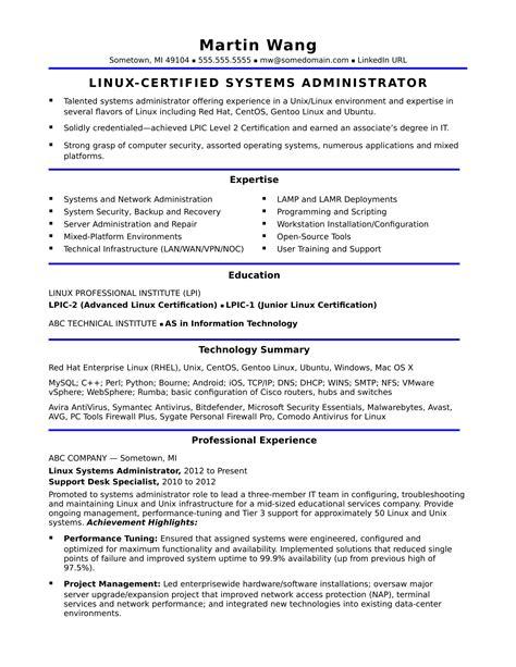 resume headline for system administrator windows system administrator resume sample - Sample System Administrator Resume