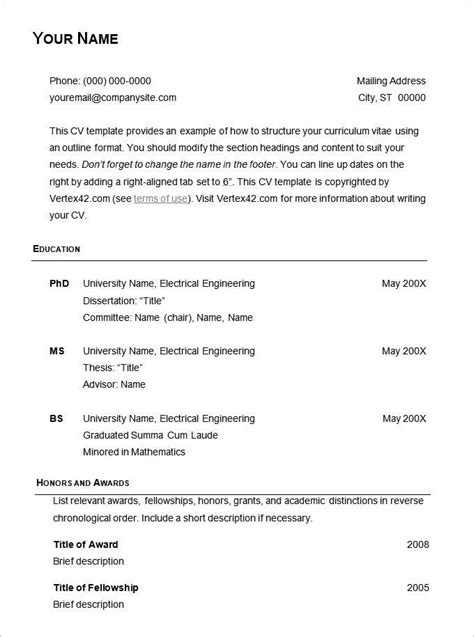 Resume In Docx Simple Resume Templates 75 Examples Free Download