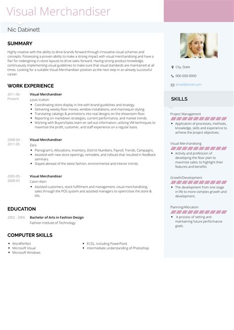 resume job description merchandiser visual merchandiser job description best sample resume