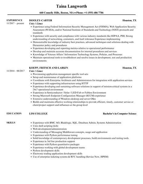 sample resume for jobs