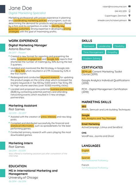 resume keywords scanner free resume examples samples in various online formats