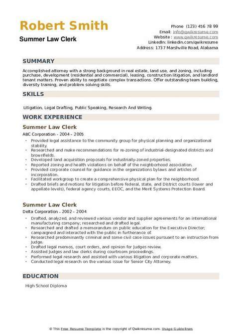 resume law clerk duties career objective for ojt marketing student