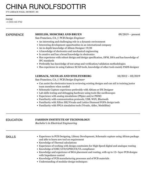 resume layout engineer pcb design engineer resume samples jobhero - Ic Layout Engineer Sample Resume