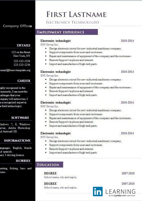 resume layout openoffice resume open office templates